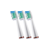 Waterpik Sonic Toothbrush Standard Size brush Heads x3 SRSB-3W SR-3000