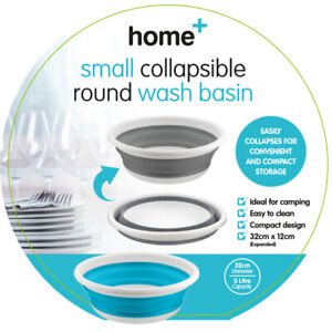 Collapsible Round Bowl Wash Basin Small Space Saving Camping Washing Up 32cm 5L