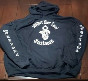 2 Sided Support local Outlaws Biker Motorcycle MC w/ sleeves Sweatshirt Hoodie