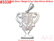 #3338 Trophy #1 Award Medal CUP TOY Charm 925 Silver Jewelry Pendant Necklace
