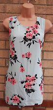 G21 col cravate turquoise rose fleuri baggy blouse summer blouse tunique pour femme 12 m