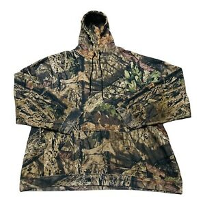 Mossy Oak Break Up Camo Pullover Hoodie Mens 3XL XXXL Sweatshirt Drawstring