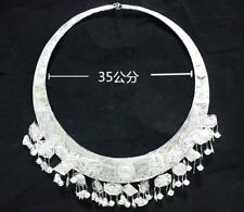 Classic traditional Tribal exotic chinese handmade miao silver necklace 1piece