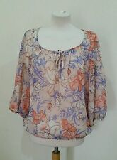 Wallis 3/4 Sleeve Casual Floral Tops & Shirts for Women