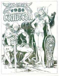 1980 SAN DIEGO COMICON PROGRAM BOOK - Sergio Aragones, Ray Bradbury, Steranko