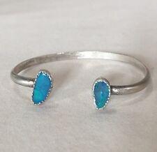 ❤️GORGEOUS❤️Australian Boulder Opal Cuff Bracelet Sterling Silver Horseshoe Boho