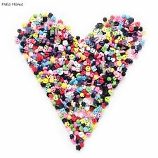 100pcs Mixed 2 Hole Resin Buttons Sewing Scrapbooking Decor 6mm