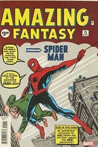 AMAZING FANTASY #15 1ST SPIDER-MAN STAN LEE MARVEL FACSIMILE REPRINT NM