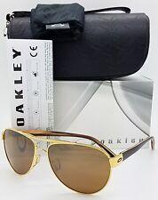 NEW Oakley Disclosure sunglasses Gold Tungsten Iridium 4110-02 AUTHENTIC Womens