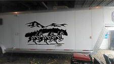 Extra Large Running Horses Horse Trailer Rv Decal Stickers 42x76 set of 2