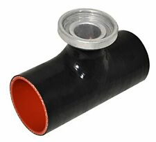 """Black Red JDM 3""""  Turbo Blow Off Valve Reinforce SQV Silicone Coupler Adapter"""
