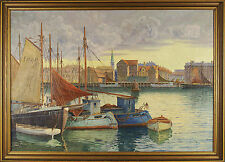 G. Gundorff old Danish Seascape Original Oil Painting Signed
