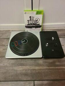DJ Hero 2 & Turntable (Microsoft Xbox 360, 2010) Tested Works
