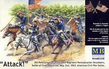 Masterbox American Civil War 1863 Union Army Volunteers 1:3 5 Civil War Horses