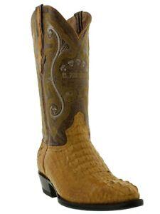 Mens Crocodile Boots Genuine Hornback Buttercup Leather Western Cowboy J Toe