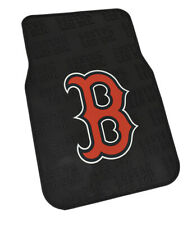 MLB Boston Red Sox Officially Licensed Universal Fit PVC Floor Mat Set of 2