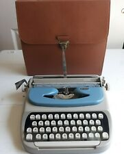 Royal Citadel Manual Portable Typewriter with Ribbon, Leather Case 1963