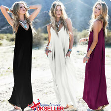 Womens Evening Cocktail Ladies Party Beach Hippie Boho Maxi Kaftan Dress 10-24