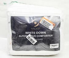Maple Down Alternative Superior Cotton Hypoallergenic White Queen Comforter