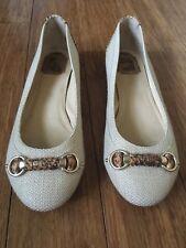 Christian Dior Ballet Flats Womens Shoes Beige Sz 40 Brand New Beautiful Buckle
