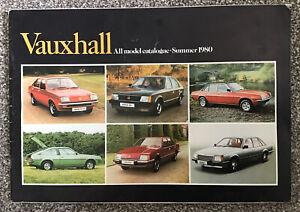 VAUXHALL Chevette Astra Cavalier Carlton Royale Models Brochure V2323 Dec 1980