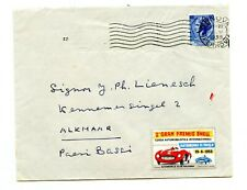 Italy Cover 1955 & Automobile Club Bologna Racing Poster Stamp Grand Prix Shell