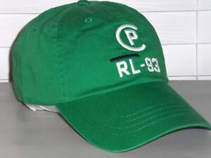 POLO RALPH LAUREN Men's RL CP-93 REGATTA NAUTICAL Baseball Cap Hat, GREEN, nwt
