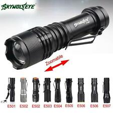 SKYWOLFEYE 8000LM CREE Q5 14500 Zoom LED Penlight AA Mini Police Pocket Torch BE