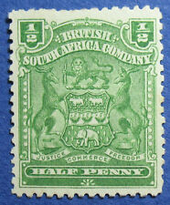 1904 RHODESIA 1/2d SCOTT# 59 S.G.# 75a UNUSED                            CS09663