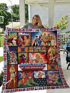 He-Man & Masters Of The Universe Quilt Blanket For Birthday Christmas She-Ra