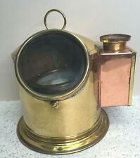 Vintage Brass Navigation Binnacle with Compass w/ Sherwoods Ltd Vaporite No. 1 L