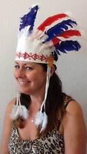 Carnval/ Party Indian Headdress With Feathers. Next day UK Dispatch