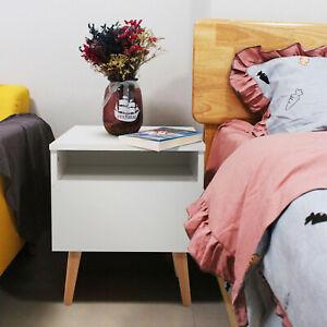 Modern Nightstand Bedside End Table Storage Cabinet w/ Drawer Bedroom Furniture