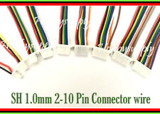 Micro Mini JST SH 1.0mm 2 to 10 Pin Connector Housing Receptacle 10cm 28AWG wire