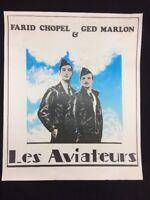 SPECTACLE LES AVIATEURS FARID CHOPEL & GED MARLON AFFICHE ORIGINALE FRANCE 1980