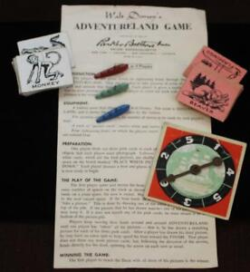 Disneyland 1956 Walt Disney Parker Bros. Adventureland Game Pieces Vintage WDP