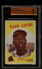 1959 TOPPS #380 HANK AARON BVG 8 NM-MT BRAVES SUBS(9, 9, 8.5, 7.5) HIGH END HE