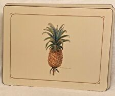Pimpernel Pineapple bromeliad ananas Placemats 16 x 12,  S/4 in box.