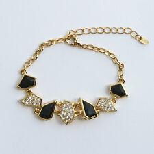 18k Gold GF elegant vintage crystals bangle bracelet with Swarovski elements