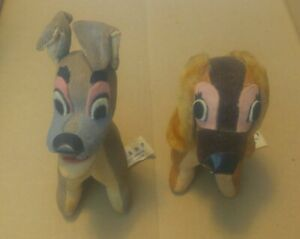 Vintage 1964 Lady and the Tramp plush, made in Japan, WDP, excellent condition