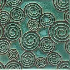 Craftsman Hand-Painted Decorative Tile Sacred Spiral Available in 6x6 or 5x5
