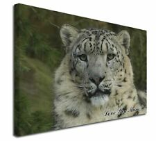"""Snow Leopard 'Love You Mum' 30""""x20"""" Wall Art Canvas, Extra Large, AT-47lym-C3020"""