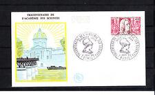 enveloppe 1er jour  accademie des sciences   Paris     1966