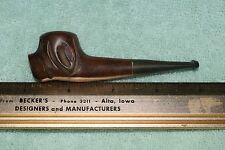 CB-030 - Carved Hound Dog Imported Briar Tobacco Pipe, 3.75-inches Estate Vintge