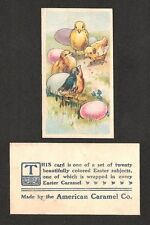 E45 American Caramel Gum Candy Card - Easter Series - Chicks with Eggs