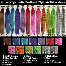 Grizzly Feather I Tip Hair Extensions 26 Strands - 13 colors 2 strands/color