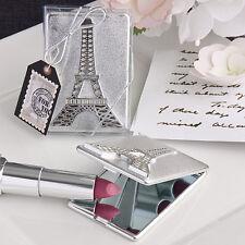 Bomboniera utile nozze confezionata torre eiffel specchio borsetta tema Parigi