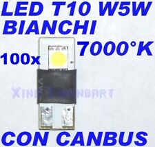 100 PEZZI LED CANBUS 7000K WHITE T10 W5W NO CHECK LUCI