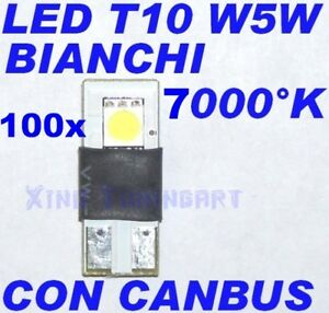 100 Pieces LED Canbus 7000K White T10 W5W No Check Lights