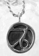 LOOK Tribal Mayan style Capricorn Planet Saturn Pendant Charm Sterling Silver go